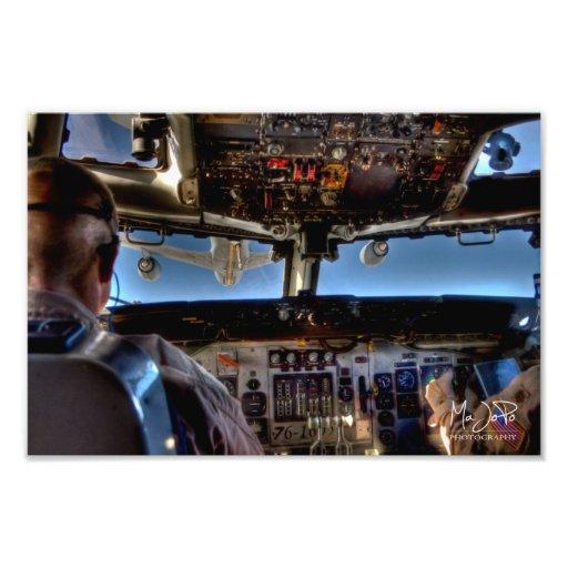 E-3 AWACS Air Refueling HDR Photo Print