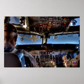 E-3 AWACS Air Refueling HDR Poster
