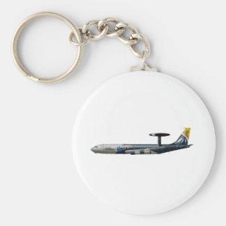 E-3 Sentry Basic Round Button Keychain