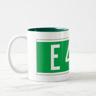 E 42 St., New York Street Sign Two-Tone Coffee Mug