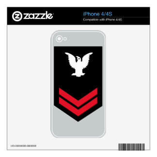 E-5 Petty Officer Second Class Decal For The iPhone 4S