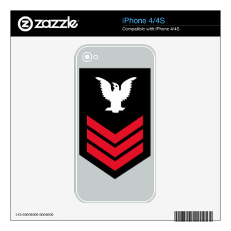 E-6 Petty Officer First Class Skins For iPhone 4S