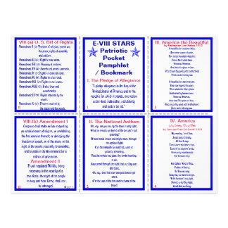 E-8** Patriotic Pocket Pamphlet / Bookmark Flyer