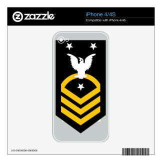 E-9 Fleet/Command Master Chief Petty Officer Decal For The iPhone 4S