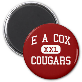 E A Cox - Cougars - Middle - Columbia Tennessee 2 Inch Round Magnet