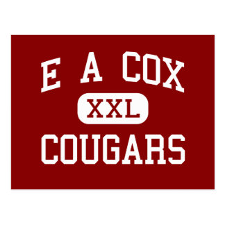 E A Cox - Cougars - Middle - Columbia Tennessee Postcard