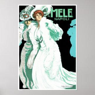 E.A. Melle and Co. ~ Napoli Poster