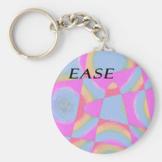 E.A.S.E abstract keychain