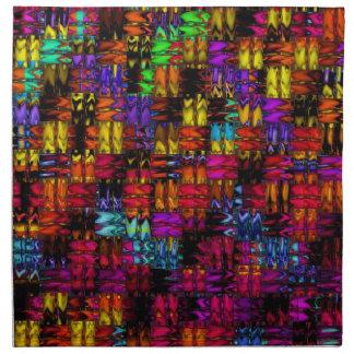 e abstracta servilleta imprimida