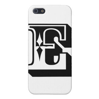 """E"" Alphabet Letter Tee iPhone SE/5/5s Case"