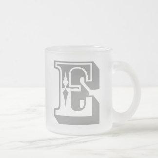 E Alphabet Letter Tee Mug