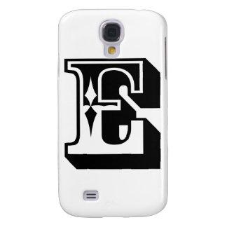 """E"" Alphabet Letter Tee Samsung Galaxy S4 Cover"