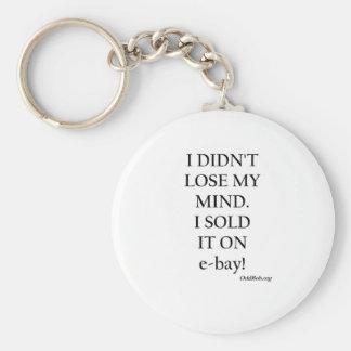 e-bay basic round button keychain