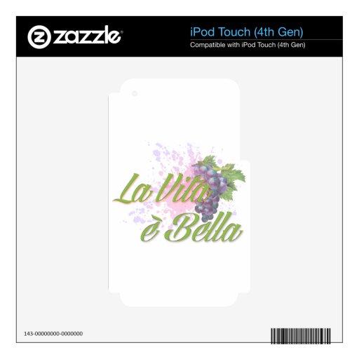 E Bella de Vita del La Skins Para iPod Touch 4G