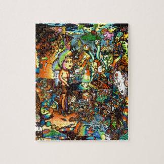 E Bent Psychedelic Art Puzzle