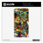E Bent Psychedelic Art Skin For iPhone 4S