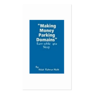 E-Book: Making Money Parking Domains Business Cards