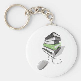 E-books Basic Round Button Keychain