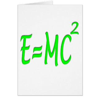 E = bujía métrica 2 (verde) tarjeta de felicitación