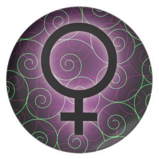 E-card for international women's day melamine plate