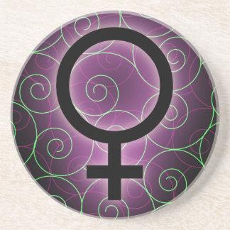 E-card for international women's day sandstone coaster