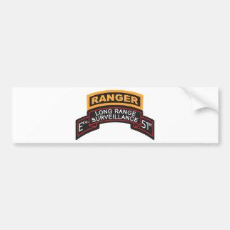 E Co 51st Infantry LRS Scroll, Ranger Tab Bumper Sticker