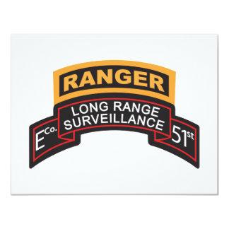 E Co 51st Infantry LRS Scroll, Ranger Tab Card