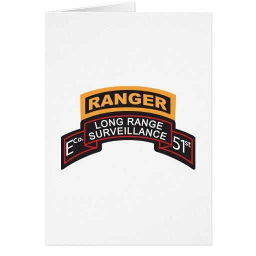 E Co 51st Infantry LRS Scroll, Ranger Tab Cards