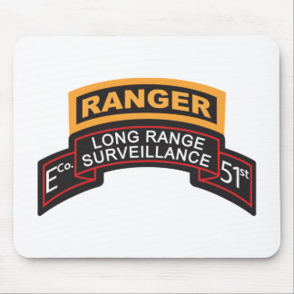E Co 51st Infantry LRS Scroll, Ranger Tab Mouse Pad