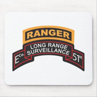 E Co 51st Infantry LRS Scroll, Ranger Tab Mouse Pad
