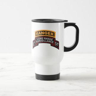 E Co 51st Infantry LRS Scroll, Ranger Tab Travel Mug