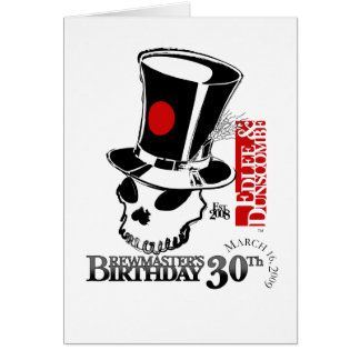 E&D Brew Masters 30th Birthday Card