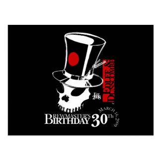 E&D Brew Masters 30th Birthday Postcard