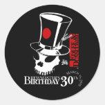 E&D Brew Masters 30th Birthday Round Sticker