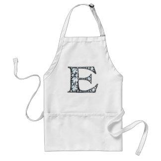 """""""E"""" Diamond Bling Apron"""