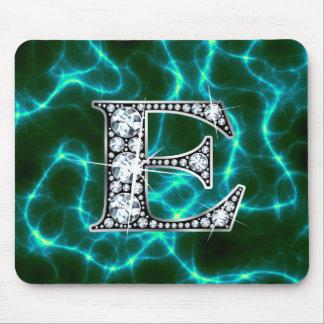 """E """"Diamond Bling"""" Lightning Mousepad"""