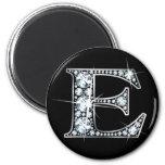 """""""E"""" Diamond Bling Magnet"""