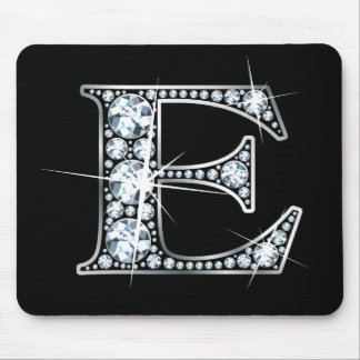 """""""E"""" Diamond Bling Mousepad"""