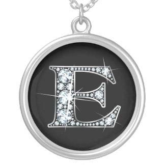 """""""E"""" Diamond Bling Necklace"""