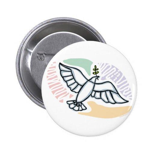 E - Dove of Peace Pinback Button