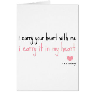 E. E. Cummings - Carry Your Heart Cards