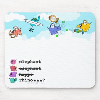 """¿e.e.h.r…? Mousemat de los """"pequeños ángeles"""" Tapetes De Ratones"""