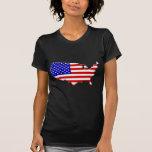 E.E.U.U.-bandera-país-biselado-borde Camisetas