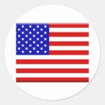E.E.U.U.-Bandera Pegatinas Redondas