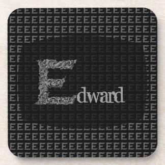 E - El alfabeto de Falck (plateado) Posavaso