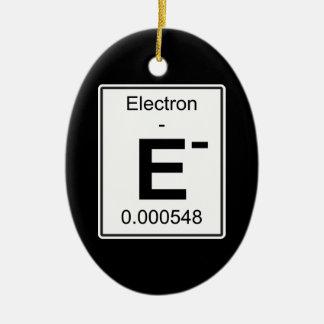 E - Electron Ceramic Ornament