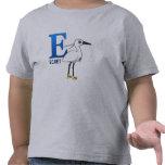 E está para el Egret Camisetas