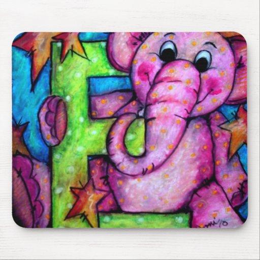 E está para el elefante alfombrillas de ratón