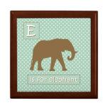 """""""E"""" está para el elefante Cajas De Recuerdo"""