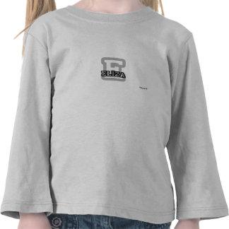 E está para Eliza Camiseta